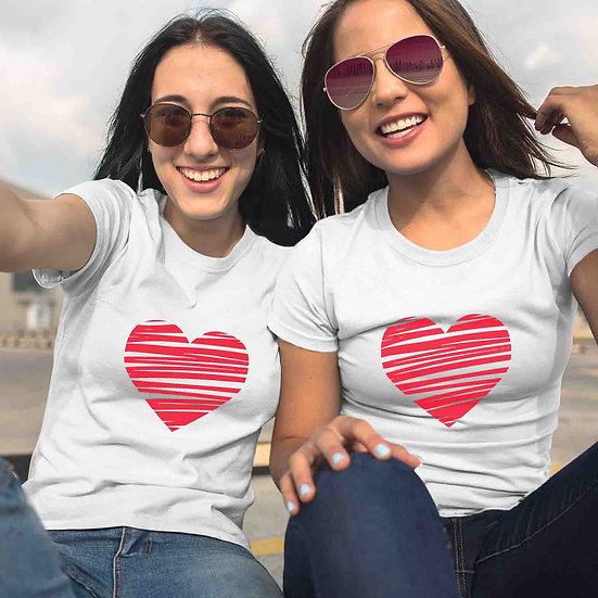 Scribbled Heart (Combo of 2 T-shirts)