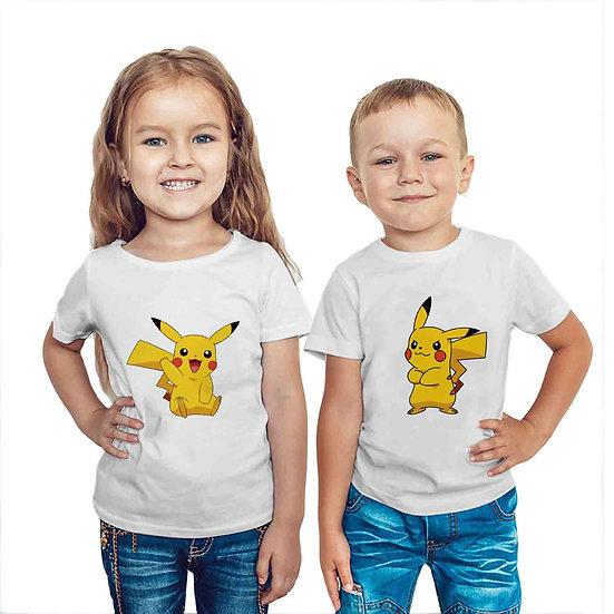 Pokemon Pikachu (Combo of 2 T-shirts)