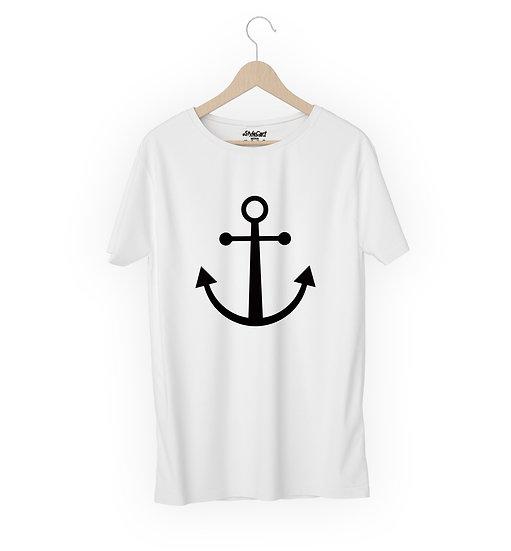 Anchor Half Sleeves Round Neck Unisex 100% Cotton T-shirt
