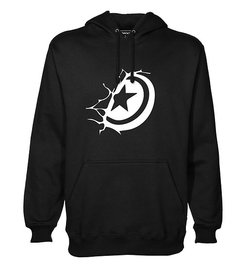 Captain America Shield Printed Designed Cotton Hoodie or Sweatshirts for Men