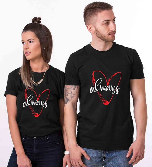 Always Love (Combo of 2 T-shirts)