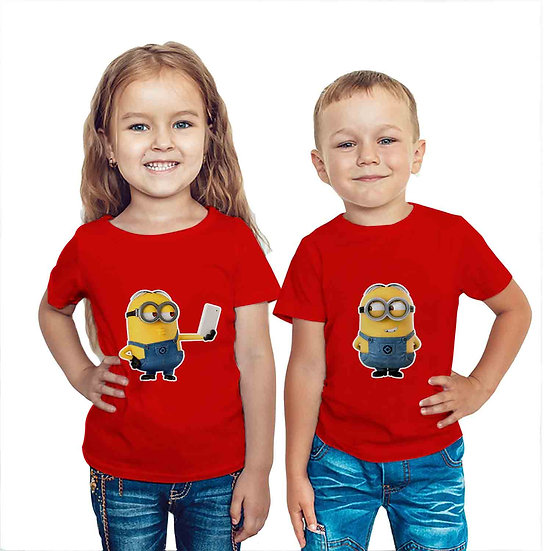 Minions (Combo of 2 T-shirts)