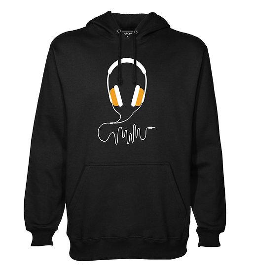 Headphone Printed Designed Cotton Hoodie or Sweatshirts for Men
