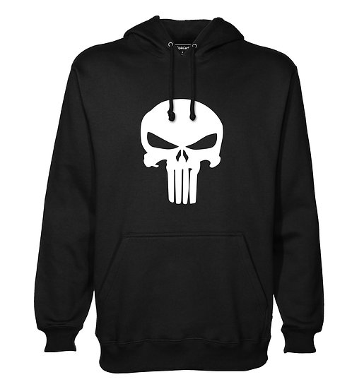 Punisher Skull Grunge Printed Designed Cotton Hoodie or Sweatshirts for Men