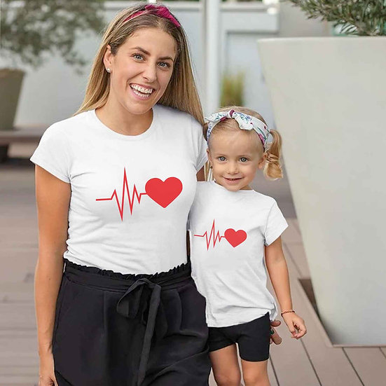 Heart Beat (Combo of 2 T-shirts)