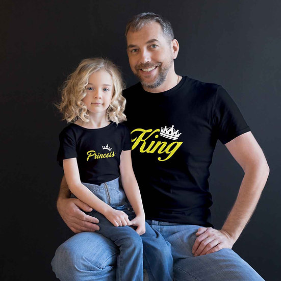 King And Princess (Combo of 2 T-shirts)