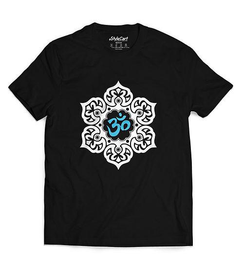 Design Om Half Sleeves Round Neck 100% Cotton T-shirt