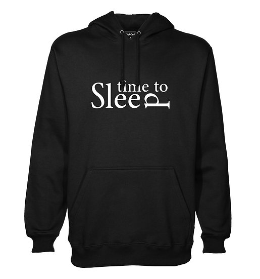 Time To Sleep Printed Designed Cotton Hoodie or Sweatshirts for Men