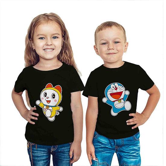 Doraemon & Doraemi (Combo of 2 T-shirts)