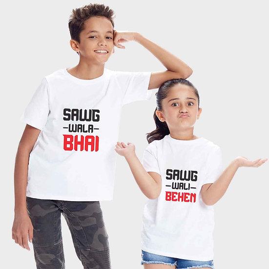 Swag Wali behen And Swag Wala Bhai (Combo of 2 T-shirts)