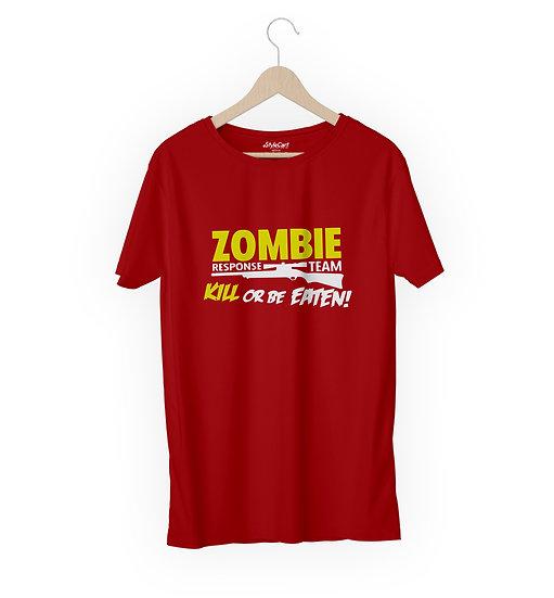 Zombie Response Team Kill Or Be Eaten Half Sleeves Round Neck 100% Cotton Tees