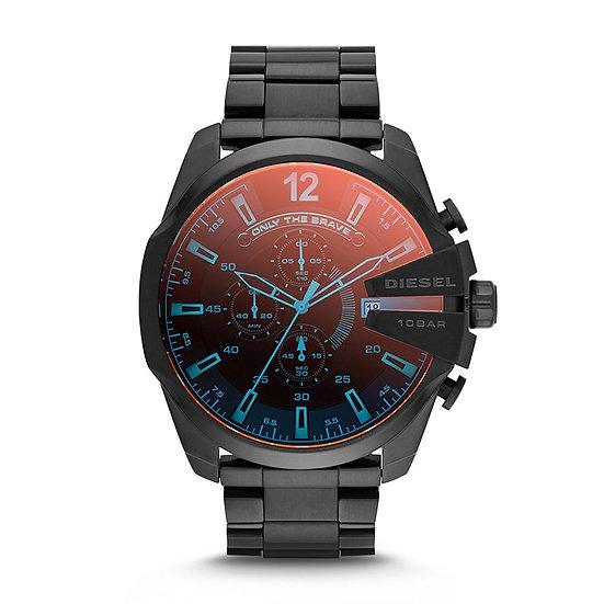 Diesel Mega Chief Analog Black Dial Men's Watch - DZ4318