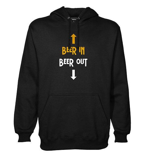 Beer In Beer Out Printed Designed Cotton Hoodie or Sweatshirts for Men