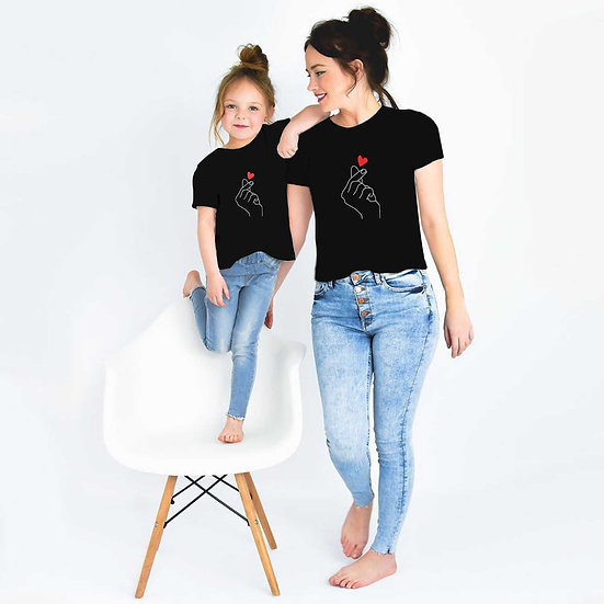 Hand With Heart (Combo of 2 T-shirts)
