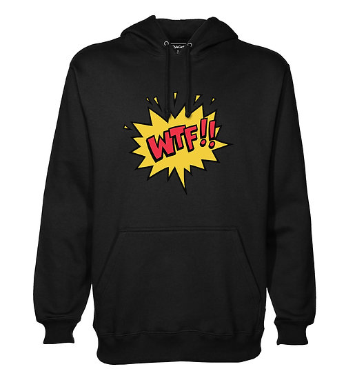 WTF Printed Designed Cotton Hoodie or Sweatshirts for Men