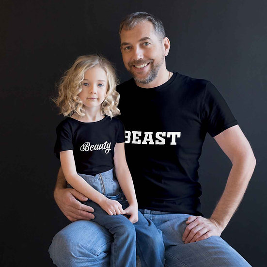 Beauty and Beast (Combo of 2 T-shirts)