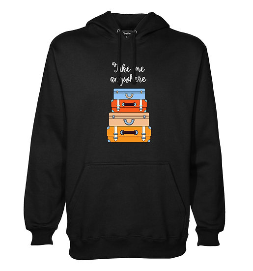 Take Me Anywhere Printed Designed Cotton Hoodie or Sweatshirts for Men