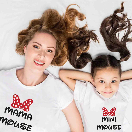 Mama Mouse And Mini Mouse (Combo of 2 T-shirts)