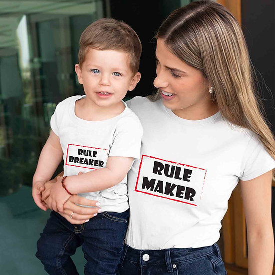 Rule Maker And Rule Breaker (Combo of 2 T-shirts)