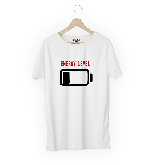 Energy Level Half Sleeves Round Neck 100% Cotton Tees