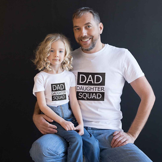 Dad Daughter Squad (Combo of 2 T-shirts)