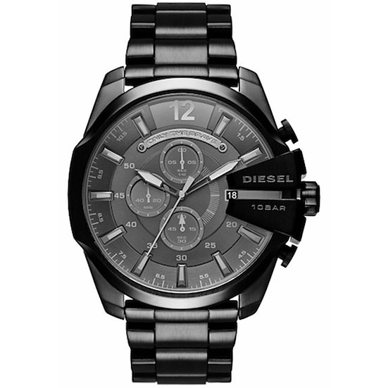Diesel Mega Chief Analog Black Dial Men's Watch - DZ4355