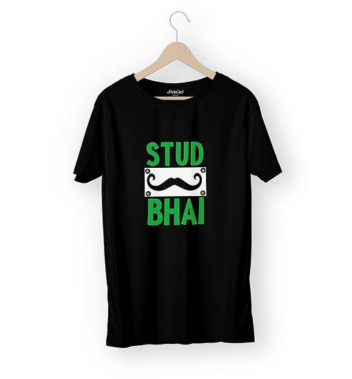 Stud Bhai Half Sleeves Round Neck 100% Cotton Tees