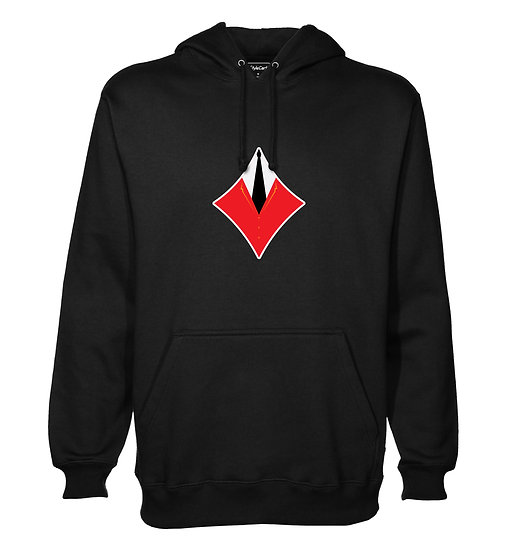 Red Card Diamond Printed Designed Cotton Hoodie or Sweatshirts for Men