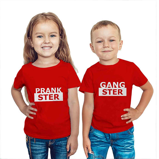 Prankster & Gangster (Combo of 2 T-shirts)