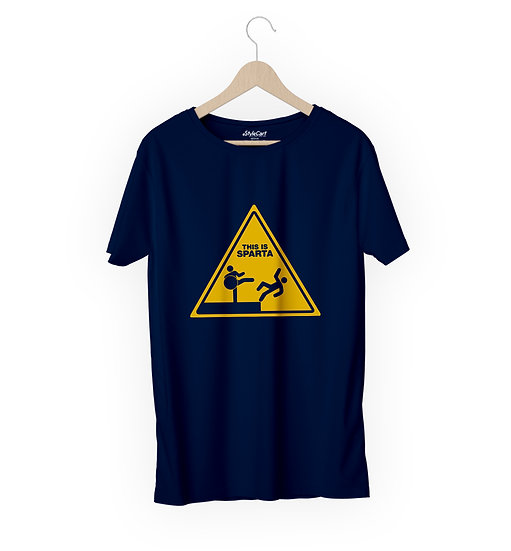 This Is Sparta 2 Half Sleeves Round Neck 100% Cotton Tees