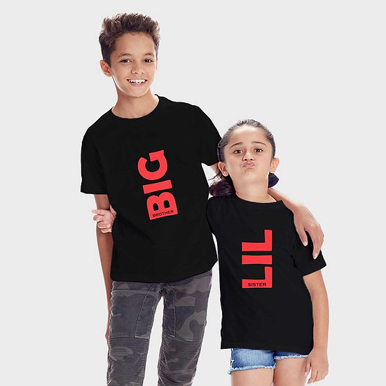 Big Brother Lil Sister (Combo of 2 T-shirts)