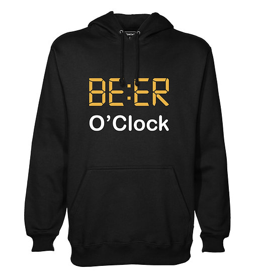 Beer O'Clock Printed Designed Cotton Hoodie or Sweatshirts for Men