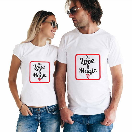 Our Love Is Magic (Combo of 2 T-shirts)