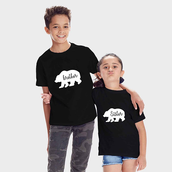 Brother Bear And Sister Bear (Combo of 2 T-shirts)