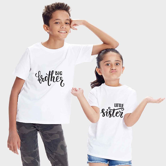 Big Brother Little Sister (Combo of 2 T-shirts)