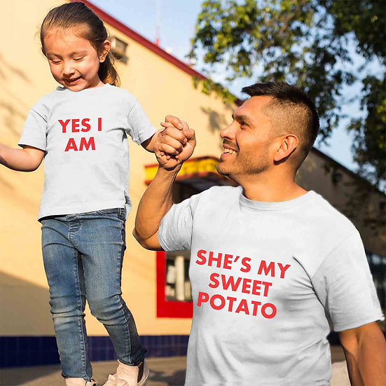 She Is My Sweet Potato And Yes I Am (Combo of 2 T-shirts)