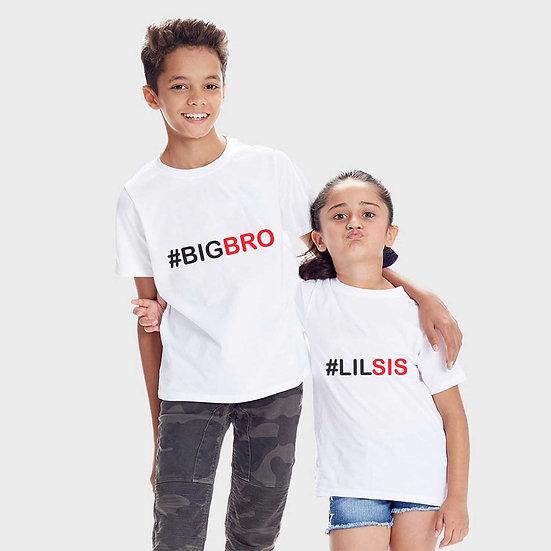 Big Bro Lil Sis (Combo of 2 T-shirts)