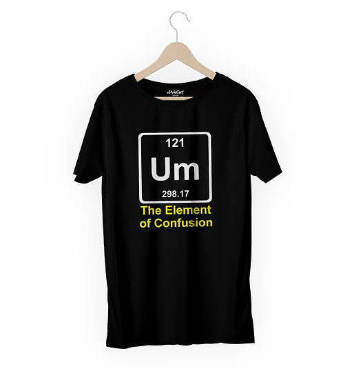 The Element Of Confusion Half Sleeves Round Neck 100% Cotton Tees