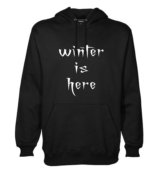 Winter Is Here Printed Designed Cotton Hoodie or Sweatshirts for Men
