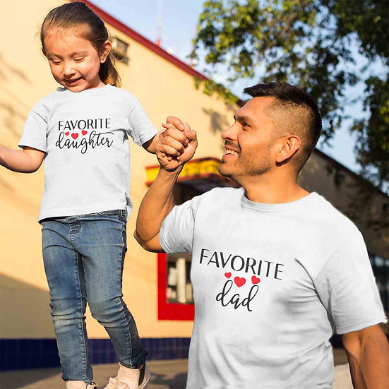 Favorite Dad And Favorite Daughter (Combo of 2 T-shirts)