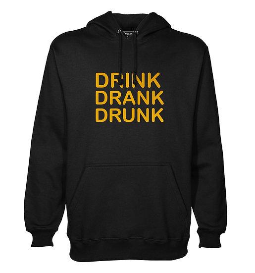 Drink Drank Drunk Printed Designed Cotton Hoodie or Sweatshirts for Men