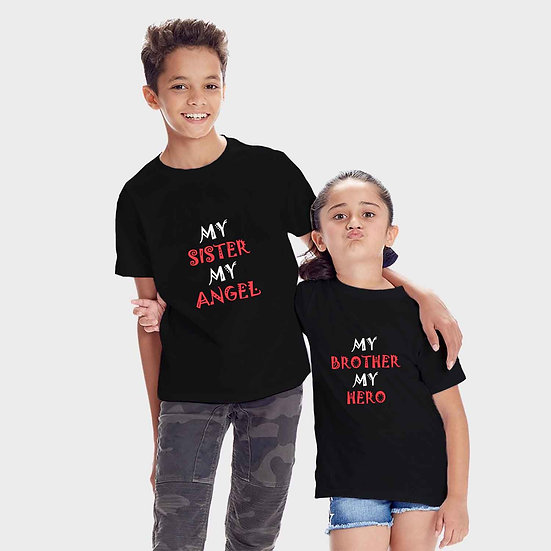 My Brother My Hero And My Sister My Angel (Combo of 2 T-shirts)