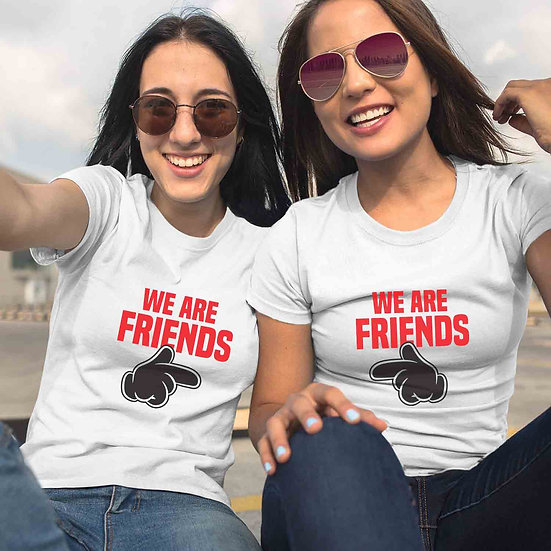 We Are Friends (Combo of 2 T-shirts)