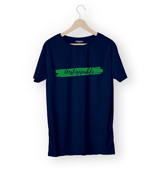 Unstoppable Half Sleeves Round Neck 100% Cotton Tees