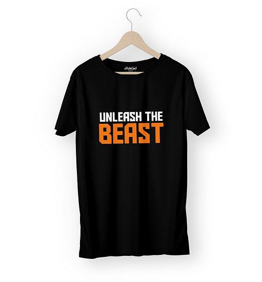 Unleash The Beast Half Sleeves Round Neck 100% Cotton Tees