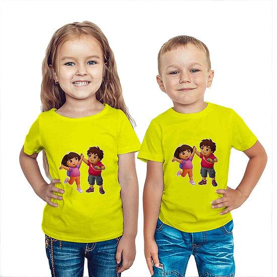 Dora The Explorer (Combo of 2 T-shirts)