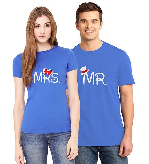 Mr & Mrs (Combo of 2 T-shirts)