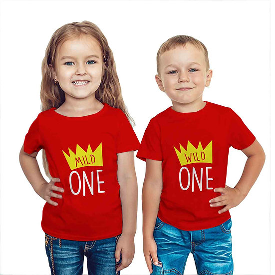 Wild One Mild One (Combo of 2 T-shirts)