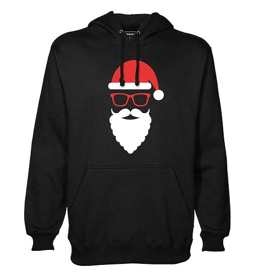Beard Santa Printed Designed Cotton Hoodie or Sweatshirts for Men