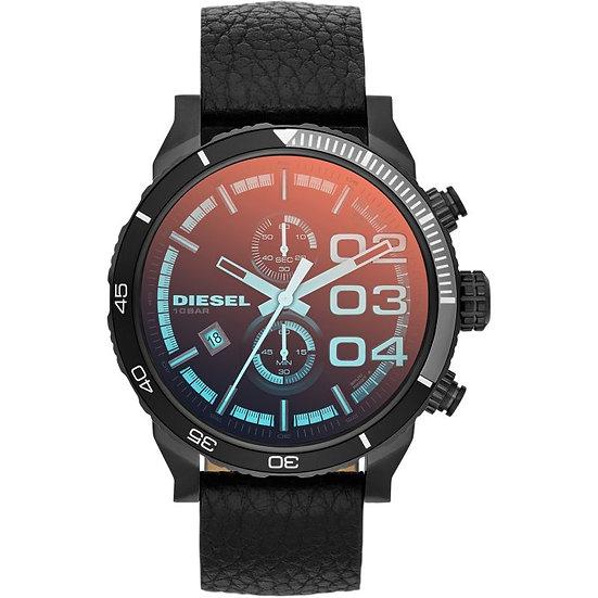 Diesel Mega Chief Analog Orange Dial Men's Watch -